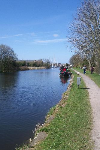 The Lancaster Canal, Glasson Dock - I only have to step out of my back gate onto this tow path.