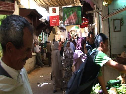 A Moroccan Souk - Where haggling is the norm.