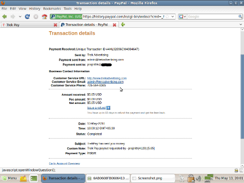 My 3rd payment from trekpay - After nearly 6 months i got my 3rd payment from trekpay..