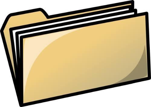 Folder - A picture of a folder, a common tool used for organization.