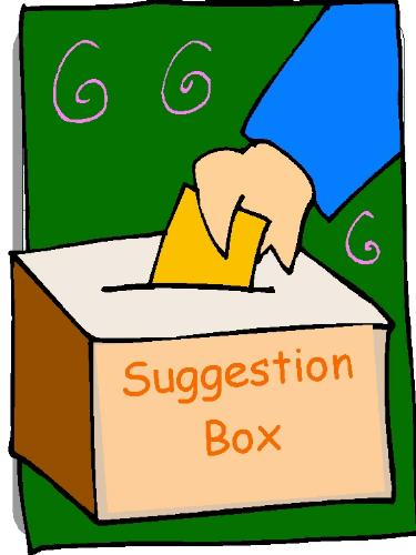 Suggestion - It is suggestion box where I am waiting for your suggestions