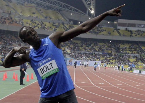 Usain Bolt - The greatest athlete of all time and ever produced.