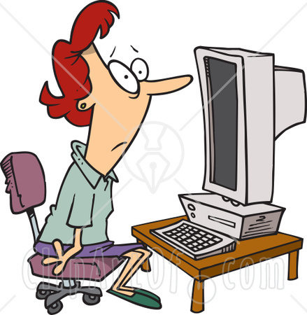 person using computer - a person in front of the computer