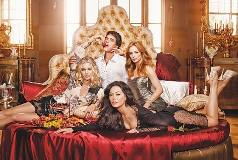"Eastwick Cast - Paul Gross, Lindsay Price, Jaime Ray Newman and Rebecca Romijn in ""Eastwick""."