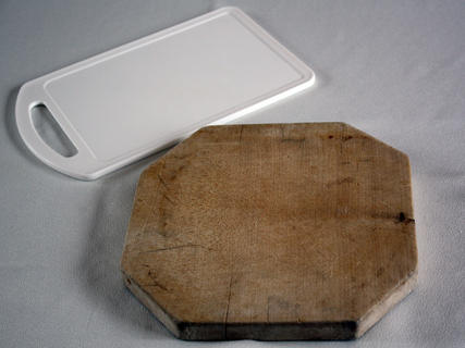 plastic or wooden - using to chop-chop...chopping board