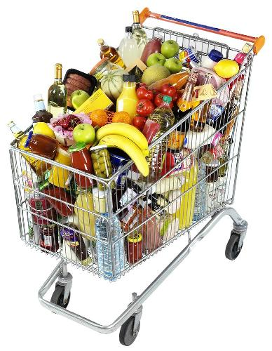 Grocery Cart - A picture of a grocery cart. A very important item that is utilized for shopping.