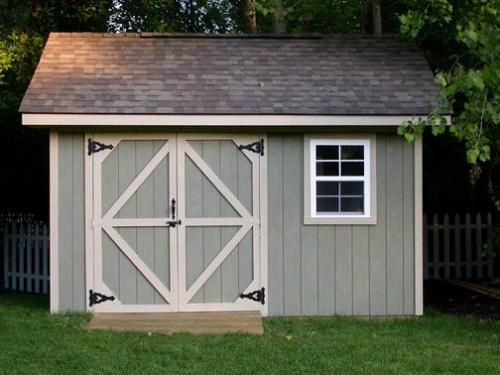 Storage Shed - A picture of a storage shed. Something commonly used to store items that one is not using.