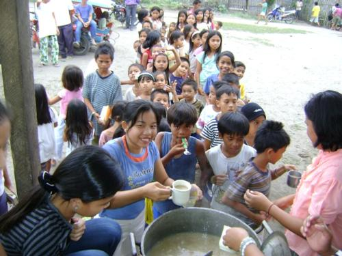 Feeding the Poor - This picture is one of our church program... that is feeding the poor children.