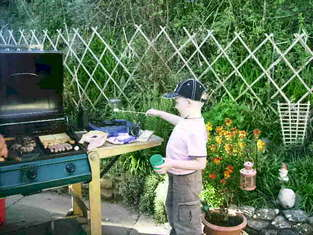 Harry again - See - he is a very busy little boy!!  He is good at grilled asparagus, sweetcorn and aubergines - just for you CT