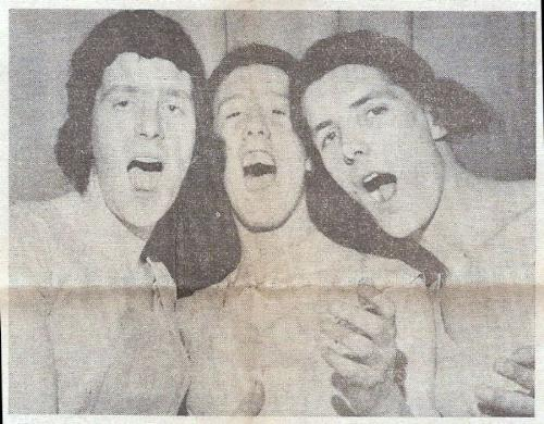 Three cousins!! - My hubby and his two cousins in a Gang Show in the 1960's
