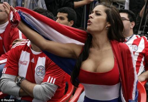 Larrisa Riquelme - Paraguay's No 1 fan - lingerie model Larissa Riquelme