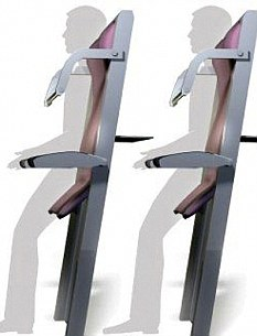 Standing Seats In An Aircraft - Not a joke, but some management bloke thinks that this is the way to go for future air travels.  Read more: http://www.dailymail.co.uk/news/article-1291103/Ryanair-sell-standing-room-tickets-4--funded-charging-passengers-use-toilet.html