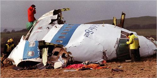 Lockerbie Disaster 1988 - On Dec. 21, 1988, a New York-bound Pan Am Boeing 747 exploded in flight as a result of a terrorist bomb and crashed in and around Lockerbie. The crash killed all 259 people aboard and 11 on the ground.