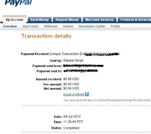 Image twist - My 7th payment from Image twist.