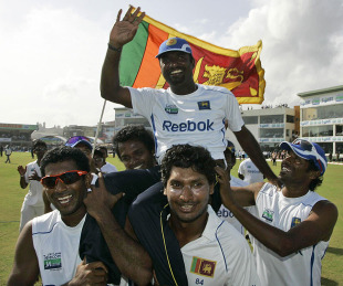 Farewell to Test Cricket of Murali - celebraation after his 800th Test Wicket