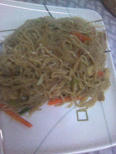 Rice noodles - This is pansit guisado.