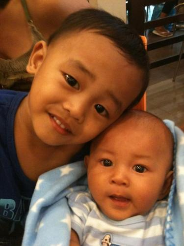 My baby boys - hmmm...