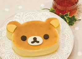 kuma cake - A little cake shaped and decorated like rilakkuma