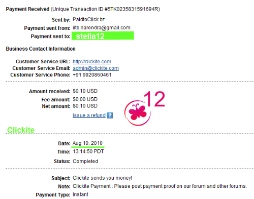 clickite payment proof, clikite paying