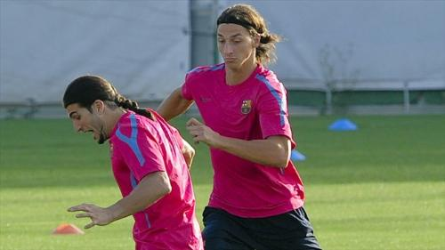 Ibrahimovic - he has transferred to ac milan on loan