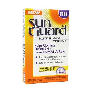 This is Rit Sun Guard - You put it in your wash with your clothes. You don't feel it at all.