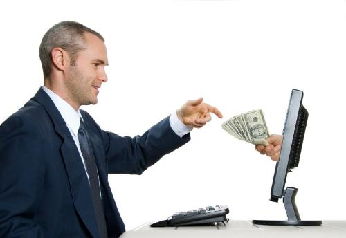 Make Money Online - Just a photo of a person making money online