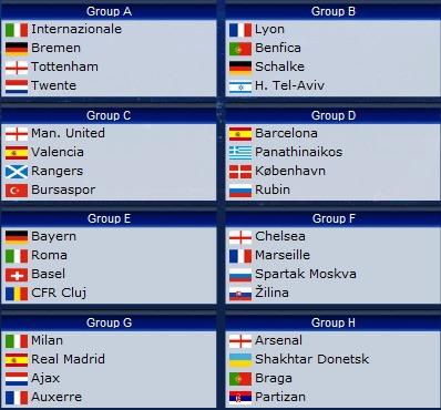 Uefa Champions League - Uefa Champions League 2010-2011.  Game on!