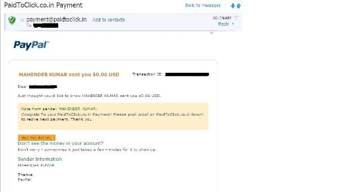 paidtoclick, genuine, payment proof, PTC - Paidtoclick, genuine, instant payout