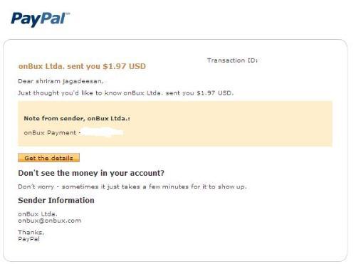 Onbux payment - Onbux payment - I love it.