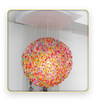 Gummi Bear chandelier -  I first saw this on the show iCarly, and looked online to see if it was real. It was, and I would love to have it!