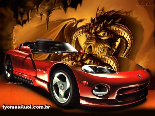awesome car^^ - gret car with a dragon^^