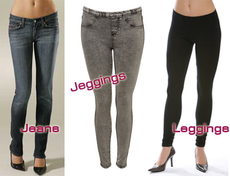 Leggings,Jeggings and Jeans - Both are a rage in contemporary fashion.