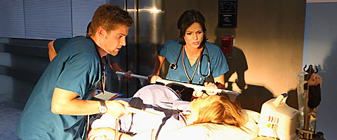 """""""Miami Medical"""" television show on CBS in 2010  - Several of the cast members of the television show, """"Miami Medical""""."""