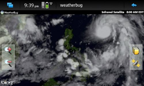 Typhoon Juan is inching closer and closer to the P - ...a satellite view of Juan as it inches closer and closer to the Philippines