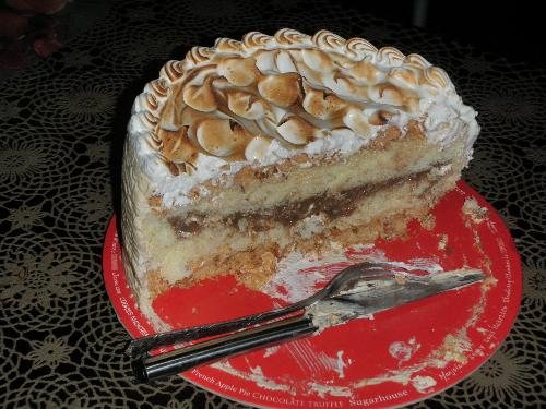 Sugarhouse cake - This is a white coffee Torte cake from sugarhouse.