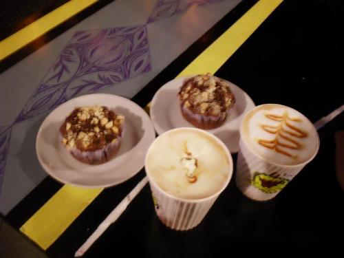 Coffee and Muffins - This is what me and my boyfriend ordered. And we each had tropical muffins with our coffee.