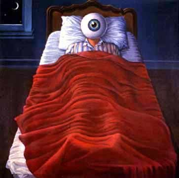 Insomnia Sucks... - A picture of how a person with insomnia feels at night while laying in bed trying to get some sleep but with no success.