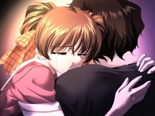 sad love^^ - girl is crying hugging boy she likes^^