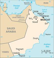 Oman Map - Map of Oman the country in the Middle East.  Website: http://www.umsl.edu/services/govdocs/wofact2005/geos/mu.html