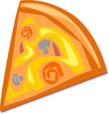 pizza - a cartoon picture of a slice of pizza