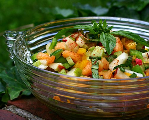 vegetable and fruit salad - Salad made by combining fruits,vegetables and nuts