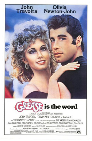 Grease - Oliva Newton-John and John Travolta starred and sung in this huge musical! I don't know a person who has not see this movie!