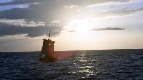 The raft built by the survivors - taken from the LOST Season 1 DVD