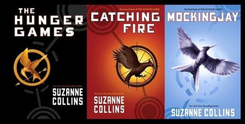 The Hunger Game series - Hunger Games, Catching Fire, and Mockingjay.