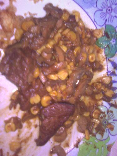 Beef with corn  - Beef stew with corn