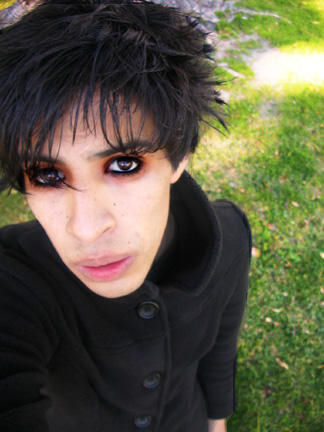 goth style makeup. emo gothic makeup
