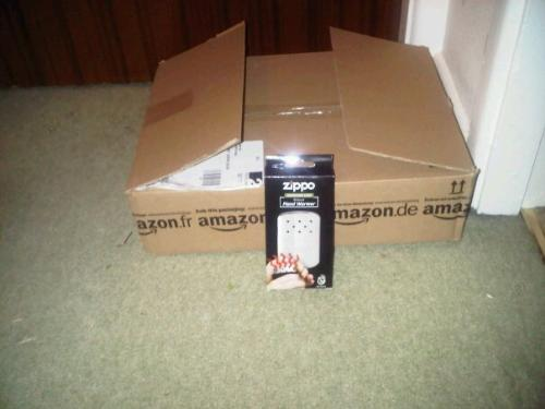 What a waste!! - Couldn't Amazon find a bigger box!!