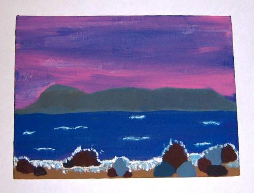 Sleeping Giant - This is my first painting of the Sleeping Giant.  Located in Thunder Bay Ontario, Lake Superior. Google it and you will have a basic idea of what I was trying to paint.