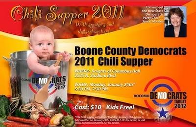 Democrat Chili Supper - Boone County Dems chili supper ad