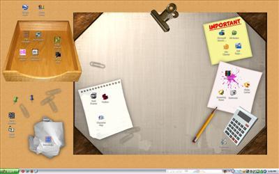 My Desktop - A literal desktop wallpaper for use on... what else? a desktop!